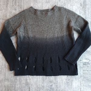 360 Sweater medium ombré distressed boyfriend